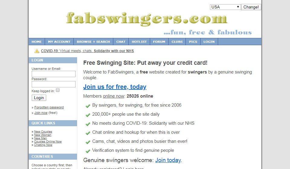 FabSwingers Review – What Do We Know About It?