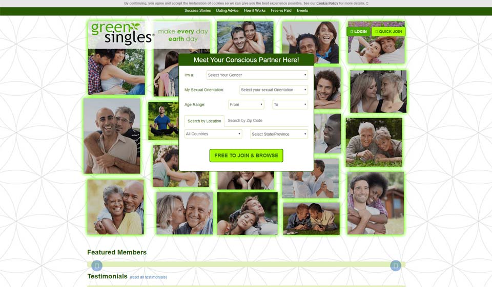 Green singles dating site