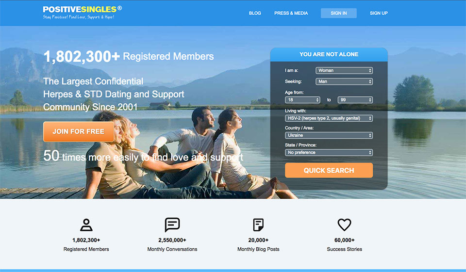 Des sites de rencontres pour personnes atteintes de MST