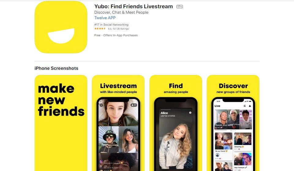 Yubo - Livestream, chat, joue. dans l'App Store